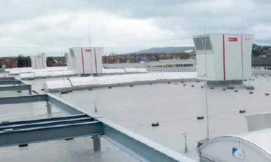 Installation roofvent