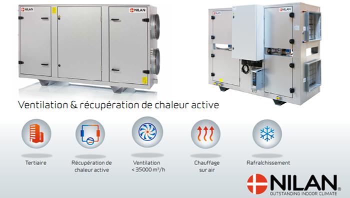 Nilan VPM ventilation thermodynamique