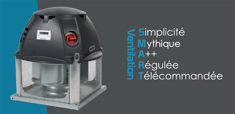 Tourelle ventilation désenfumage ECM
