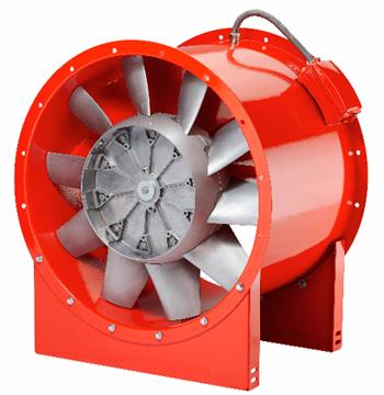 ventilateurs hélicoïdes de désenfumage à moyenne pression B AMD